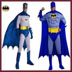 Cute Adult's Batman Costumes and Bat Masks for Halloween