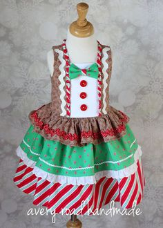Gingerbread dress from Avery Road Handmade for the Violette Field Threads Showcase