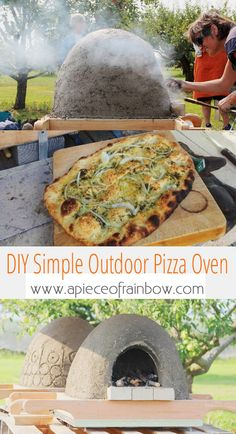 DIY Wood Fired Outdoor Pizza Oven {Simple Earth Oven in 2 days!} DIY Wood Fired Outdoor Pizza Oven {Simple Earth Oven in 2 days!},Projects to Try Great DIY wood fired outdoor pizza oven with. Wood Fired Pizza, Wood Fired Oven, Pizza Oven Outdoor, Outdoor Cooking, Pizza Oven Kits, Pizza Ovens, Build A Pizza Oven, Oven Diy, Clay Oven
