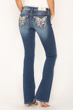 Shop our Dream Catching Mid Rise Bootcut Jeans to add to your clothing dreams along with other must have styles to create your perfect collection now at Miss Me. Cowgirl Jeans, Bling Jeans, Country Outfits, Miss Me Jeans, Teen Fashion, Summer Time, Cool Outfits, Goth, My Style