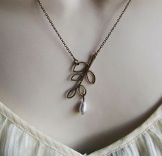 Leaf necklace. Like the angle they hung this at.