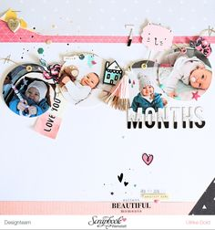 Layout *7 Months* - SBW Sketch des Monats Sept. 2016 - Crate Paper *Cute Girl* - von Ulrike Dold
