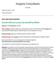 Mcx metaldex copper zinc base metals aluminum nickel lead mcx tips calls reports
