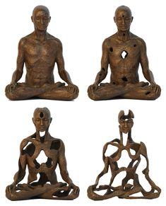 Sukhi Barber Bronze sculptures by UK artist Sukhi Barber, who spent twelve years in Kathmandu, Nepal studying Buddhist philosophy and lost-wax bronze casting. Art Sculpture, Bronze Sculpture, Metal Sculptures, Abstract Sculpture, Buddhist Philosophy, Meditation Art, Colossal Art, Human Art, Land Art
