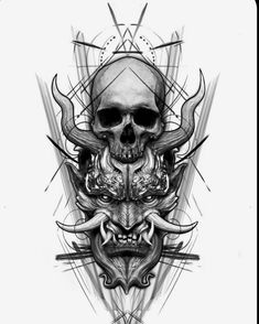 Creepy Tattoos, Skull Tattoos, Leg Tattoos, Body Art Tattoos, Tribal Tattoos, Sleeve Tattoos, Dragon Tattoos, Tatoos, Full Sleeve Tattoo Design