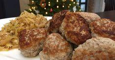 Slik lager du julens beste medisterkaker Norwegian Christmas, Cheese, Chicken, Meat, Ethnic Recipes, Food, Recipes, Norway Christmas, Eten