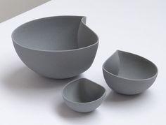 """""""Moon Bowls"""" by Belgian designer Ilona Van Den Bergh"""