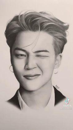 Kpop Drawings, Pencil Art Drawings, Realistic Drawings, Art Drawings Sketches, Bts Qoutes, Bts Beautiful, Bts Concert, Bts Video, Bts Pictures