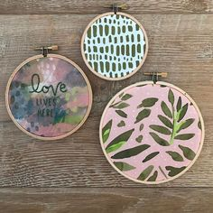 Handmade embroidery hoops by featuring Monteverde fabric by Hawthorne Threads Monteverde, Just Friends, Coin Purse, Embroidery Hoops, Instagram Posts, Fabric, Handmade, Tejido, Hand Made