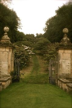 What can be more intriguing than an open gate to a beautiful estate?