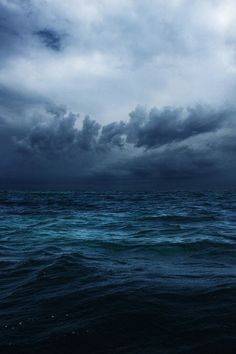 Ocean mystery + stormy clouds