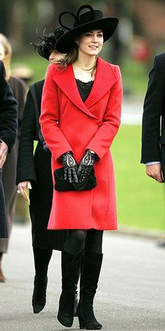 December 15th, 2006 - Kate attends her most important event of the year, William's graduation from Sandhurst.