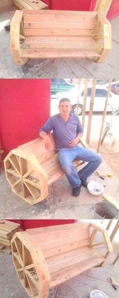 Build a Dog House with Recycled Pallets - Woodworking Finest Pallet Decking, Pallet Bench, Pallet Art, Pallet Furniture, Deck Furniture, Wooden Pallet Crafts, Diy Pallet Projects, Wooden Pallets, Wood Projects