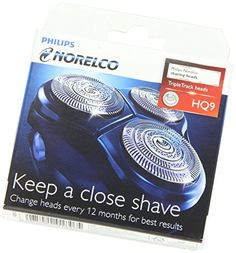 Philips Norelco SpeedXL Replacement Heads 2PACK with TripleTrack Heads and Super Lift and Cut Technology and Low Friction SkinGlide Surface for an Extra Smooth Shave Slots and Holes Catch Long and Short Hairs -- Click on the image for additional details.Note:It is affiliate link to Amazon.