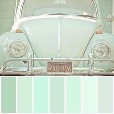 Mint green color pallete