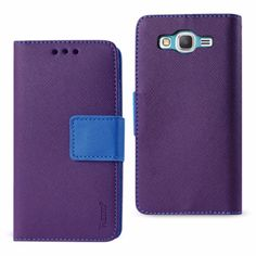 Reiko Samsung Galaxy J5 3-In-1 Wallet Case With Interior Leather Like Material And Polymer Cover-Purple