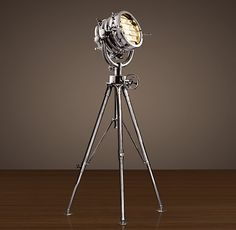 Old Hollywood tripod floor lamp