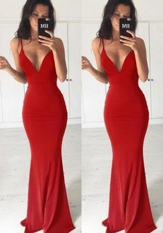 Red Backless Spaghetti Strap Mermaid Deep V-neck Elegant Evening Party Maxi Dres. , Red Backless Spaghetti Strap Mermaid Deep V-neck Elegant Evening Party Maxi Dres. Prom Girl Dresses, Prom Outfits, Gala Dresses, Dress Outfits, Evening Dresses, Fashion Outfits, Pattern Prom Dresses, Red Ball Dresses, Dress Fashion