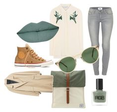 """""""It's a cool breeze."""" by kee-darden on Polyvore featuring STELLA McCARTNEY, Paige Denim, Herschel, Converse, Zara, Oliver Peoples and RGB Cosmetics"""