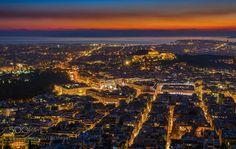Athens panorama by GeorgePapapostolou