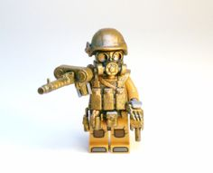 OOAK Army Military Soldier made with Lego and Hand Painted Custom Pieces by BrickEclipse