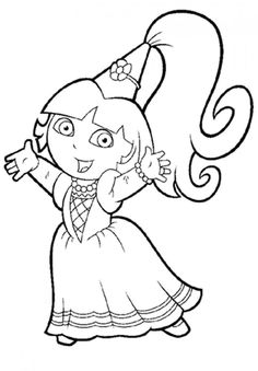 princess dora the explorer coloring pages 01