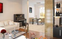 Các không gian trong thiết kế nội thất chung cư 70m2