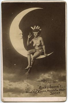 unusual paper moon portrait... but very cool.