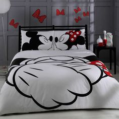Disney Mickey & Minnie Adore bedding set by BaharHomeTextile, $95.00