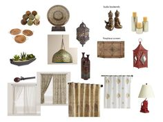 Concept board 1 Curtains and accents