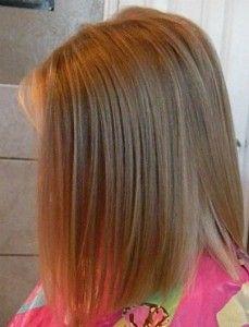 Girls Medium Length Bob Haircut (side view)
