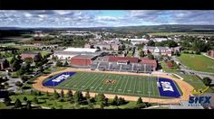 View of Oland Stadium, Governors Hall, Power Hall, and Somers Hall Mature Student, Saints, University, Cathedrals, Colleges, Dorm, Buddha, Dormitory, Dorm Room