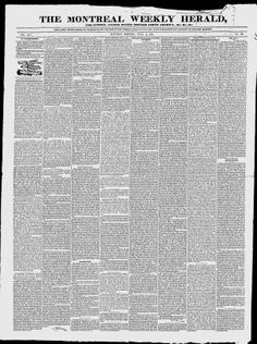 The Montreal Weekly Herald - Google News Archive Search