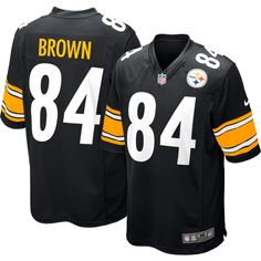 d61ab56f6 Antonio Brown Pittsburgh Steelers jerseys   gear are in stock now at  Fanatics. Find the latest arrivals of Antonio Brown Steelers shirts