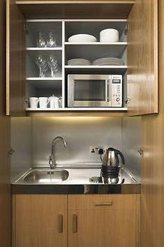 a mini kitchen