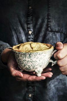 Twigg studios: apple pie for one (I love those sweet footed Anthropolgie teacups) Mug Cakes, Vegan Desserts, Just Desserts, Dessert Recipes, Food Quotes, Quotes Quotes, Vegan Butter, Macaron, How Sweet Eats
