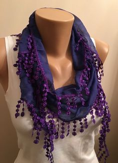 A personal favorite from my Etsy shop https://www.etsy.com/listing/262897487/new-color-purple-cotton-scarfwomens