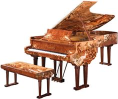 """""""Sound of Harmony"""", a Steinway commissioned by Guo Qingxiang and inlaid with images of peacocks.  Steinway you have outdone yourselves this is simply gorgeous"""