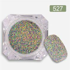 1 Box Nail Sandy Sugar Mixed Powder Manicure Nail Art Glitter Powder Dust Tip Nail Art Decoration Nail Tools 12 Colors