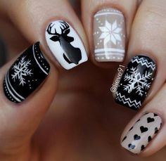 Ready to decorate your nails for the Christmas Holiday? Christmas Nail Art Designs Right Here! Xmas party ideas for your nails. Be the talk of the Holiday party with your holiday nail designs. Cute Christmas Nails, Christmas Nail Art Designs, Holiday Nail Art, Xmas Nails, Winter Nail Designs, Winter Nail Art, Winter Nails, Fun Nails, White Christmas
