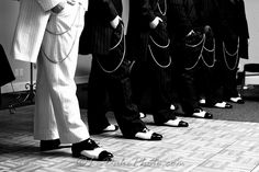 I loved the boys' shoes and chains, it went great with the mafia theme!