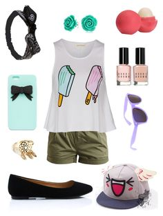 """""""It's hot outside"""" by cloud-ouo ❤ liked on Polyvore featuring Object Collectors Item, Eos, Bobbi Brown Cosmetics, Bling Jewelry, Wet Seal and Aéropostale"""