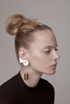 Erin Earring / gold SUPREMATISM by CONTOUR STUDIO