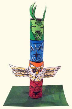 Native American Activity - Totem Pole