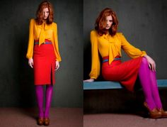 i don't think i'd ever go to this extreme but i do LOVE color blocking!!! :)