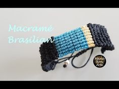 DIY Tutorial Macramé Brasilian - YouTube