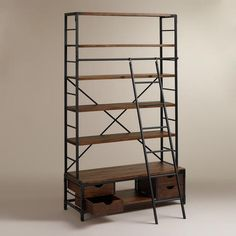 Metal Bookcase and Ladder | World Market