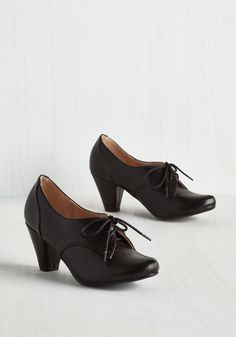 Swing Along Heel in Noir. Cut a rug to your favorite jazz tunes in these black heels by Chelsea Crew. #black #modcloth