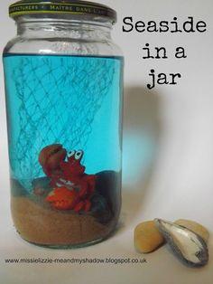 Me and my shadow: Seaside in a jar - summer holiday keepsake