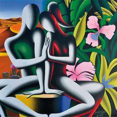 Acrylic Painting Canvas, Canvas Art, Mark Kostabi, Tango Art, Art Connection, Cuban Art, Buddha Art, Modern Art Paintings, Hippie Art